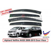 Toyota Alphard Vellfire AH20 (2nd Gen) 2008-2015 AG Door Visor Air Press Wind Deflector (Big 12cm Width)