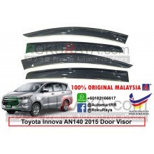 Toyota Innova AN140 (2nd Gen) 2016 AG Door Visor Air Press Wind Deflector (Big 12cm Width)