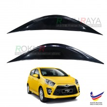 Perodua Axia (SE Advance) 2014 Custom fit ABS Car Head Lamp Eye Lid Brow Cover