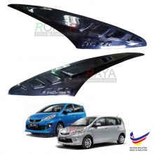 Perodua Alza Custom Fit ABS Plastic Car Head Lamp Eyelid Eye Lid Brow Cover