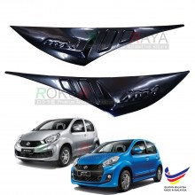 Perodua Myvi Icon (2015-2017) Custom Fit ABS Plastic Car Head Lamp Eyelid Eye Lid Brow Cover