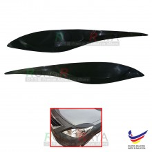 Nissan Almera Prefacelift 2011-2014 Custom fit ABS Car Head Lamp Eyelid Eye Lid Brow Cover