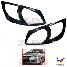 Proton Saga BLM (2008-2010) Custom Fit ABS Plastic Car Headlamp Head Lamp Eyelid Eye Lid Brow Cover