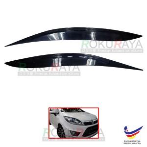 [BLACK] Proton Iriz Old 2014-2018 Plastic Car Headlamp Head Lamp Eyelid Eye Lid Brow Cover Car Accessories Parts
