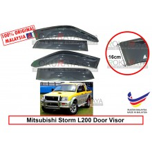 Mitsubishi Storm L200 (3rd Gen) 1996-2005 AG Door Visor Air Press Wind Deflector (Extra Big 16cm Width)