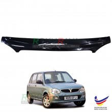 Perodua Kelisa (2001-2007) Front Hood Protector Bonnet Bug Visor Guard Cover With Brackets And Clips (Black)