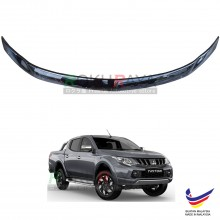 Mitsubishi Triton (5th Gen) 2015 OEM Front Hood Protector Bonnet Bug Visor Guard Cover With Brackets And Clips - Black