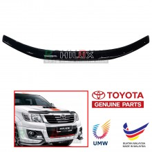 Toyota Hilux Vigo (7th Gen) 2012 Facelift OEM Front Hood Protector Bonnet Bug Visor Guard Cover With Brackets And Clips Black (OEM UMW TOYOTA)