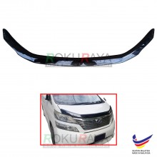 Toyota Vellfire AH20 (2nd Gen) 2008-2015 OEM Front Hood Protector Bonnet Bug Visor Guard Cover With Brackets And Clips - Black