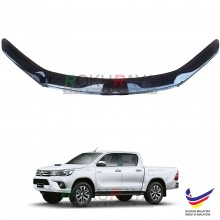 Toyota Hilux Revo AN120 (8th Gen) 2015 OEM Front Hood Protector Bonnet Bug Visor Guard Cover With Brackets And Clips - Black