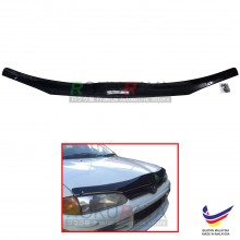 Proton Wira 1993-2007 Front Hood Protector Bonnet Bug Visor Guard Cover With Brackets And Clips (Black)