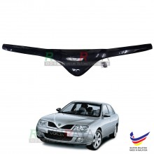 Proton Waja 2000-2006 Front Hood Protector Bonnet Bug Visor Guard Cover With Brackets And Clips (Black)