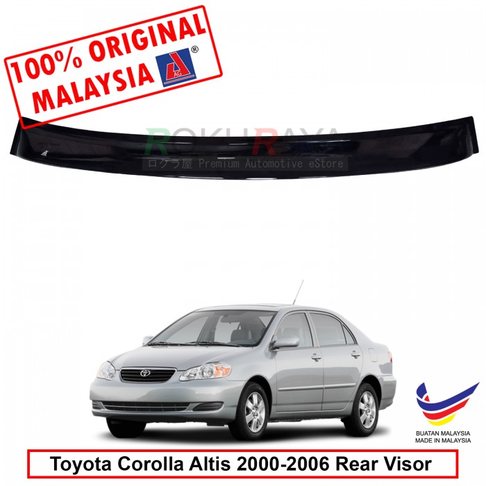 Toyota Corolla Altis (9th Gen) 2000-2006 AG Rear Wing Spoiler Visor  Windscreen Sun Shade (Small 10cm) 51a2bb88763