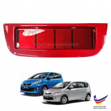 Perodua Alza 2009 Custom Fit Rear Bonnet Safety Reflective Red Reflector Number Plate Holder Frame