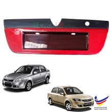 Proton Saga BLM FL FLX (2nd Gen) 2008-2016 Custom Fit Rear Bonnet Safety Reflective Red Reflector Number Plate Holder Frame