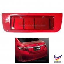 Toyota Vios (3rd Gen) 2013-2018 Custom Fit Rear Bonnet Safety Reflective Red Reflector Number Plate Holder Frame