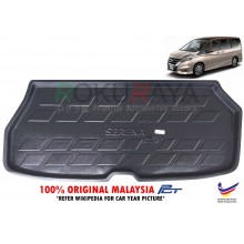 Nissan Serena MkV C27 (5th Gen) 2017 Custom Fit Original PE Non Slip Rear Trunk Boot Cargo Tray