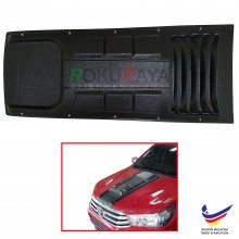 Toyota Hilux Revo AN120 AN130 (8th Gen) 2015 Engine Hood Air Scoop Vent Bonnet Cover With Stainless Steel Nuts