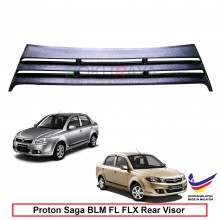 Proton Saga BLM FL FLX (2nd Gen) 2008-2016 OEM Plastic ABS Rear Windscreen Sun Shade Guard 3 Step Air Terjun