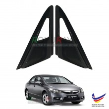 Honda Civic FD (8th Gen) 2006-2012 Aerodynamic Front Triangle Side Window Mirror Cover (J's JS Racing Design)