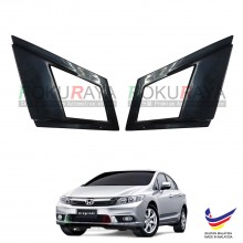 Honda Civic FB (9th Gen) 2011-2015 Aerodynamic Front Triangle Side Window Mirror Cover (J's JS Racing Design)