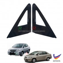 Honda City (4th Gen) 2003-2008 Aerodynamic Front Triangle Side Window Mirror Cover (J's JS Racing Design)