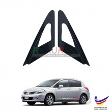 Nissan Latio C11 Hatchback Aerodynamic Front Triangle Side Window Mirror Cover (J's JS Racing Design)