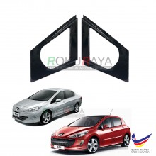 Peugeot 308 408 (1st Gen) 2008-2013 Aerodynamic Front Triangle Side Window Mirror Cover (J's JS Racing Design)