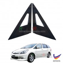 Toyota Wish AE10 (1st Gen) 2003-2009 Aerodynamic Front Triangle Side Window Mirror Cover (J's JS Racing Design)