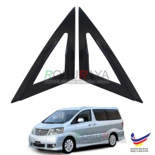Toyota Alphard AH10 (1st Gen) 2002-2008 Aerodynamic Front Triangle Side Window Mirror Cover (J's JS Racing Design)