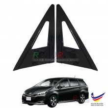 Toyota Wish AE20 (2nd Gen) 2009 Aerodynamic Front Triangle Side Window Mirror Cover (J's JS Racing Design)