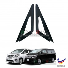 Toyota Alphard Vellfire AH20 (2nd Gen) 2008-2015 Aerodynamic Front Triangle Side Window Mirror Cover (J's JS Racing Design)