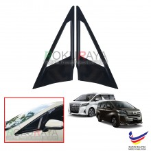 Toyota Alphard Vellfire AH30 (3rd Gen) 2016 Aerodynamic Front Triangle Side Window Mirror Cover (J's JS Racing Design)