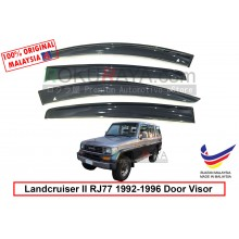 Toyota Landcruiser II RJ77 1992-1996 AG Door Visor Air Press Wind Deflector (Big 12cm Width)