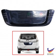 Proton Exora 2009 Custom Fit Rear Bonnet OEM ABS Acrylic Plastic Decorative Number Plate Holder Black