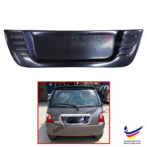 Perodua Kancil New Round Lamp Custom Fit Rear Bonnet OEM ABS Acrylic Plastic Decorative Number Plate Holder Black