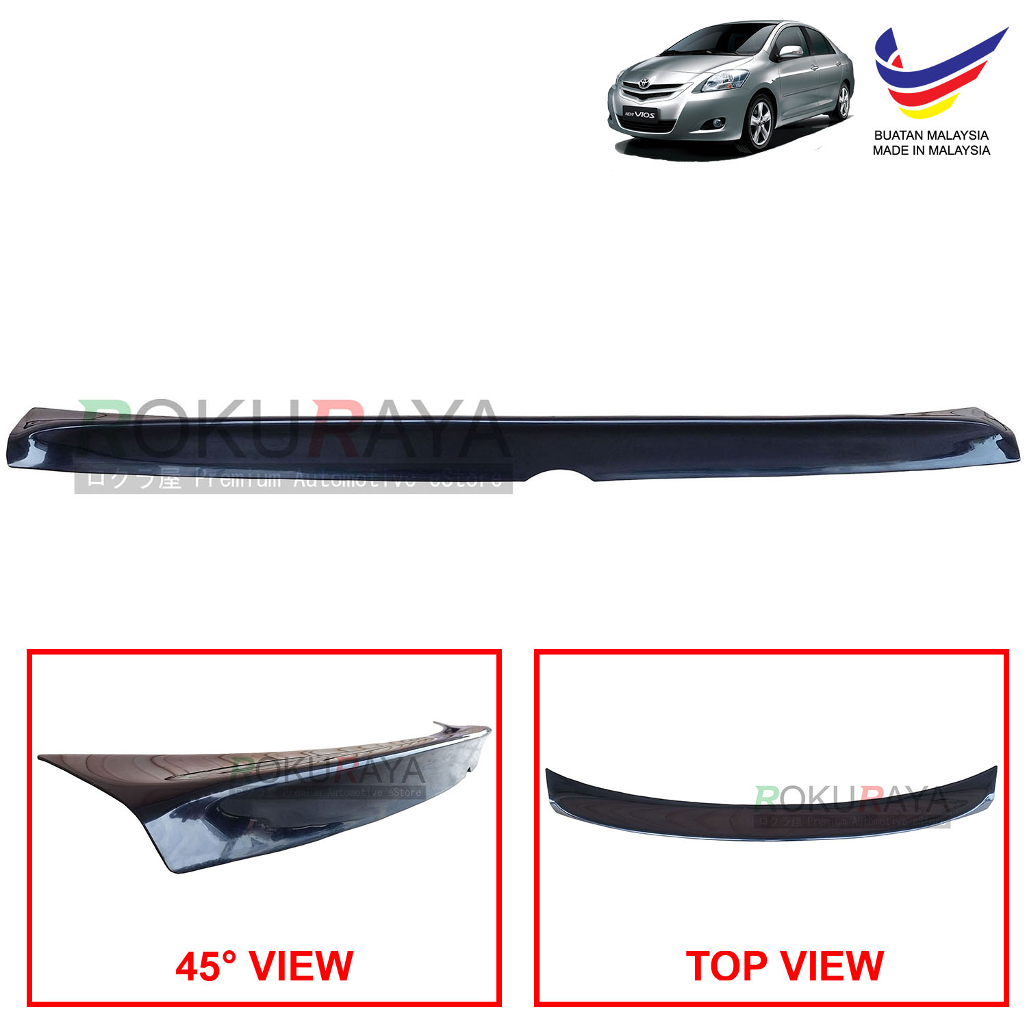 Toyota Vios XP90 (2nd Gen) 2007-2013 Ducktail ABS Plastic